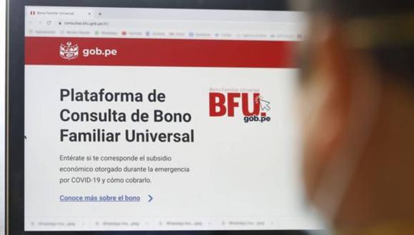 El cronograma del pago del segundo Bono Familiar Universal para nuevos usuarios de una Billetera digital serpa publicada en las próximas horas (Foto: Andina)