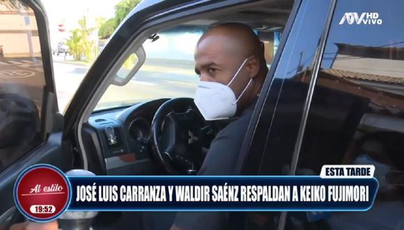 Las cámaras de ATV captaron a Luis Guadalupe saliendo de la casa de Susana Higuchi. (Captura ATV)