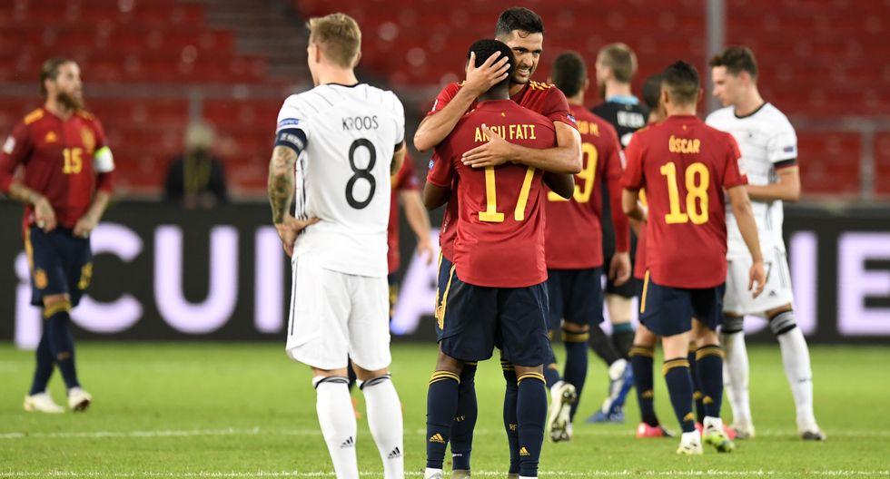 España empata 1-1 con Alemania en el arranque de la Liga de Naciones