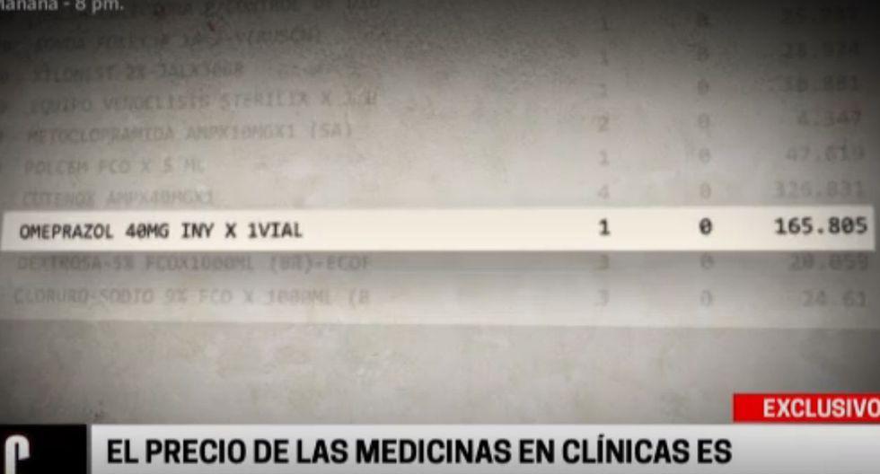 Este es el detallado de los cobros que se le hicieron al paciente tras 20 días en la unidad de cuidados intensivos de la clínica San Pablo. (Cuarto Poder)