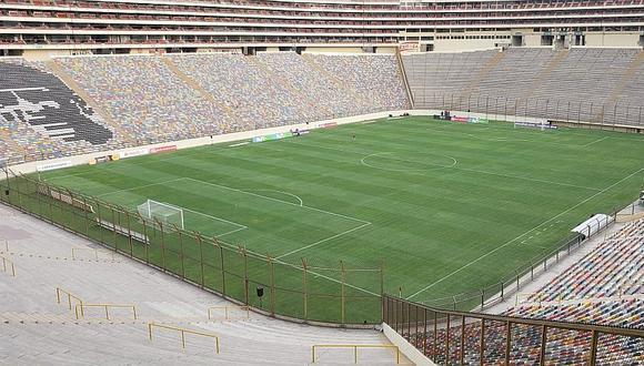 Así luce la cancha del Monumental previo al partido con Pirata FC [FOTOS]