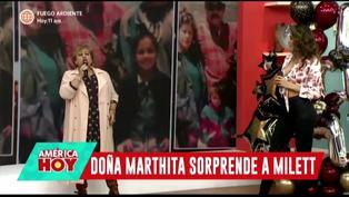 """Mamá de Milett Figueroa le canta en vivo """"Mi niña bonita"""""""