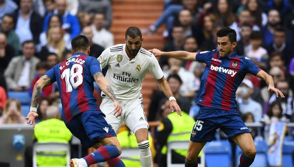 Levante ha ganado dos veces al Real Madrid como local, la última el pasado curso por 1-0. Las otras doce ediciones de este duelo se han saldado con dos empates y diez victorias madridistas. (Foto: AFP)