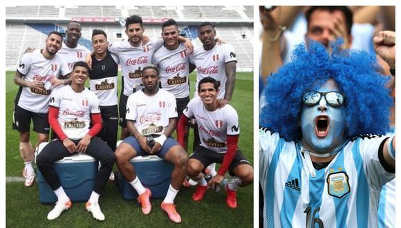 Los hinchas argentinos ya palpitan el duelo contra la 'Bicolor'.