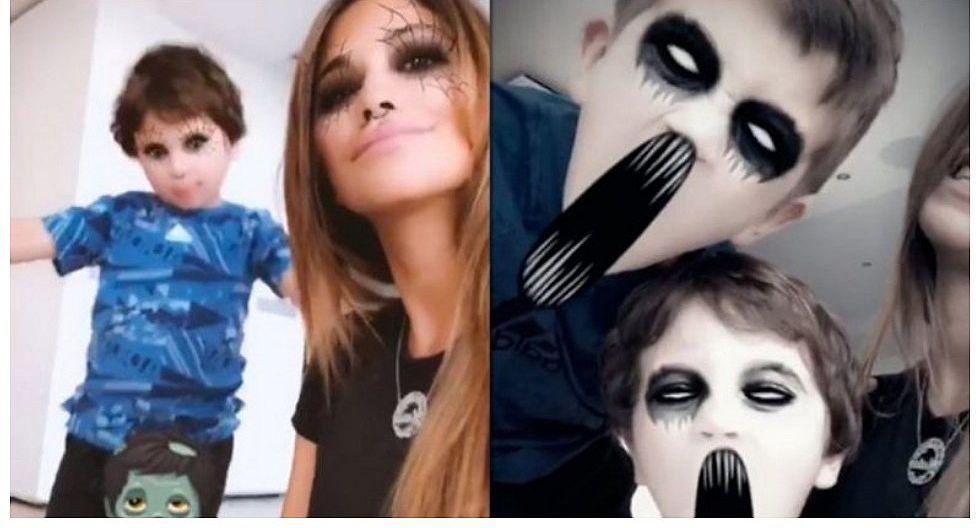 Esposa e hijos de Lionel Messi celebraron Halloween
