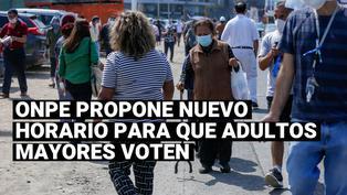 Elecciones 2021: ONPE anunciamodificación de horario de voto escalonado para adultos mayores