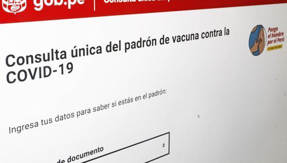 Este viernes 16 de abril inicia vacunación de mayores de 80 años en Lima y Callao. (Foto: Andina)