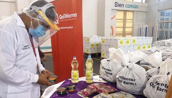El Midis recordó que el pasado 25 de febrero entregó a dicha comuna 74.57 toneladas de alimentos para su distribución. Foto: Midis