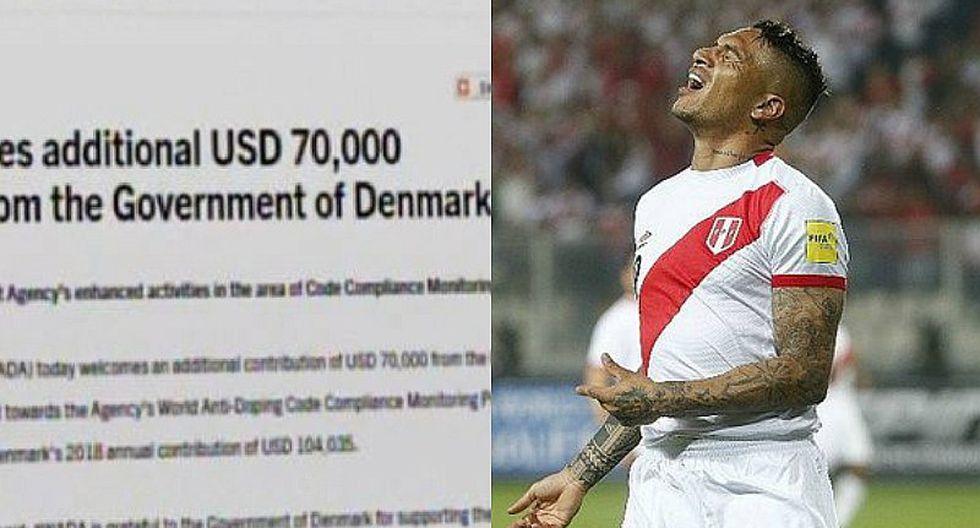 Selección peruana: así se explica la polémica donación de Dinamarca a la WADA