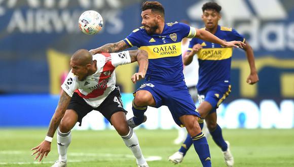 Boca y River igualaron 1-1 en La Bombonera. (Foto: EFE)
