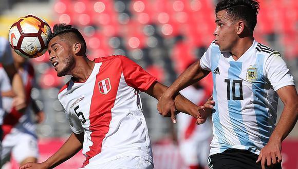 Perú perdió 1- 0 ante Argentina y quedó eliminado del Sudamericano Sub 20