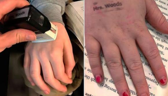 """A una profesora de la escuela de Hallsville en Missouri se le ocurrió una brillante idea para que sus niños se laven las manos """"todos los días"""". (Facebook)"""