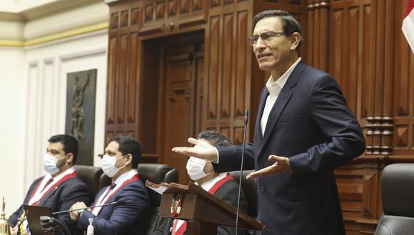 Martín Vizcarra aseguró que responderá ante el pleno del Congreso sobre nueva moción de vacancia en su contra. (Foto: Congreso)