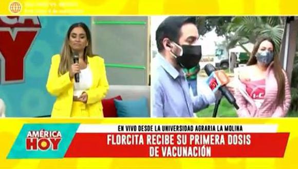 Florcita Polo se emociona hasta las lágrimas previo a recibir vacuna contra COVID-19. (Foto: captura de video)