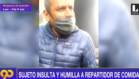 El sujeto que agredió de manera verbal a trabajador de Rappi aún no ha sido identificado. (Latina)