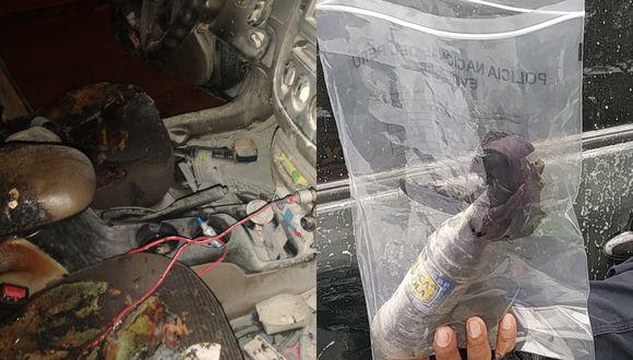 Los autos del presidente y gerente de Deportivo Municipal quedaron completamente destrozados