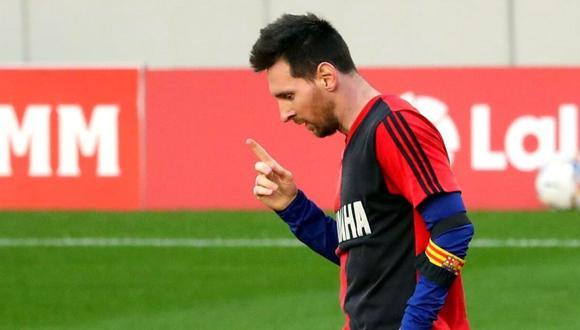 Ratificada la sanción a Lionel Messi por el homenaje a Diego Maradona. (Foto: AFP)