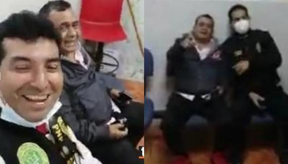 Policías graban a Tony Rosado y cantan junto a él en la comisaría tras su intervención en fiesta clandestina   VIDEO