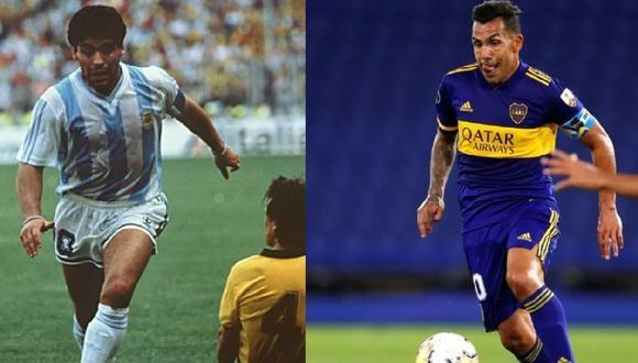 Carlos Tévez tiene el tobillo hinchado, lo mismo que vivió Maradona en Italia 90.