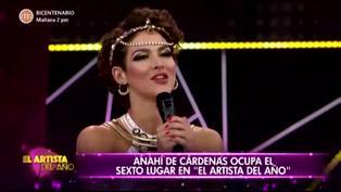 El Artista del Año: Anahí de Cárdenas es eliminada