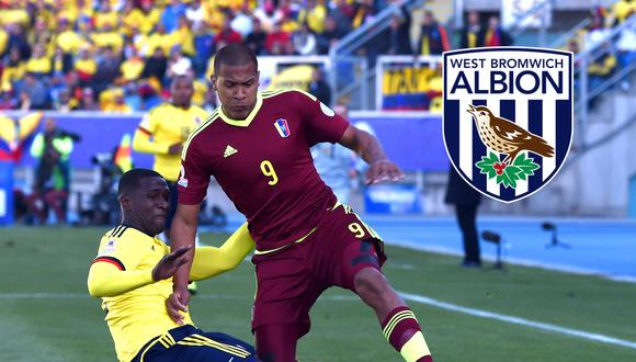 Salomón Rondón es nuevo jugador del West Bromwich Albion