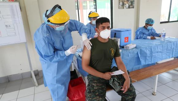 A la fecha, un total de 90.461 miembros de las FF.AA. han recibido la primera dosis de la vacuna contra el COVID-19. (Foto: Mindef)