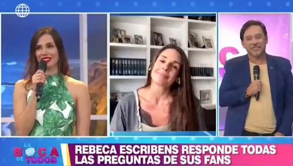 Rebeca Escribens llora al confesar que extraña conducir programa en vivo  (Foto: captura video )