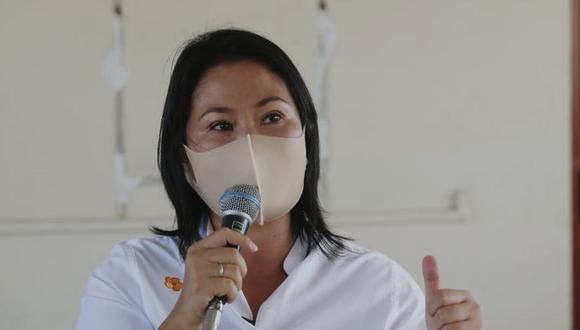 Keiko Fujimori agradeció el respaldo que le dio Mario Vargas Llosa a través de una columna. (César Grados/ GEC)