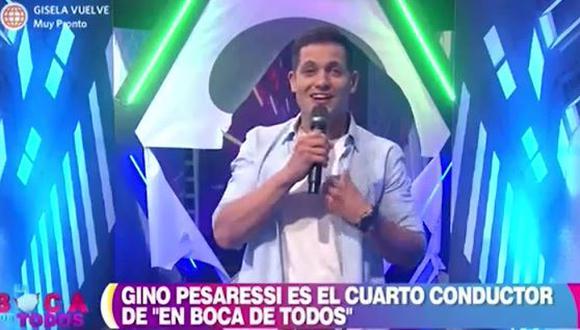 Gino Pesaressi fue presentado como el nuevo compañero de Maju Mantilla y Tula Rodríguez. (Foto: captura de video)