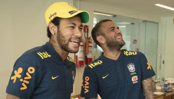 Neymar y Dani Alves estarán con Brasil para la fecha triple de Eliminatorias Qatar 2022. (Foto: AFP)