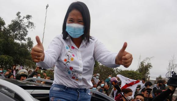 ONPE reveló los resultados al 100% en Lima Metropolitana donde Keiko Fujimori superó a Pedro Castillo por más de 1 millón de votos. (Foto: AFP / Gian MASKO)