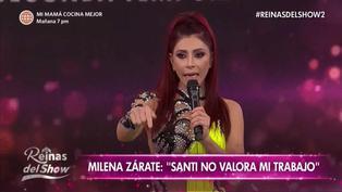 Milena Zárate se retiró del set llorando tras confrontación con Santi Lesmes por sus comentarios