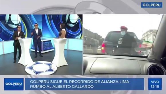 El chofer de GOLPERÚ seguía el bus de Alianza Lima, sin embargo, ingresó al carril del Metropolitano y policía bajó para increparlo