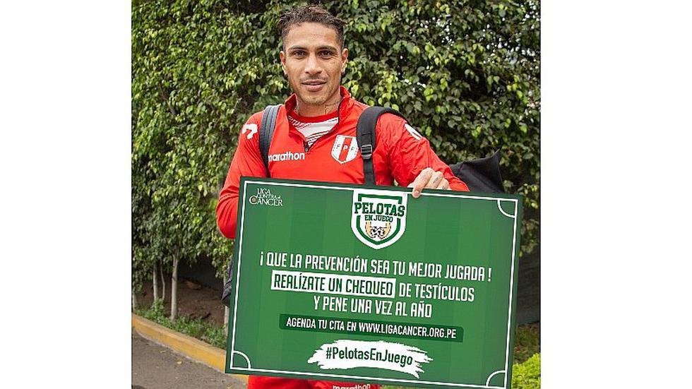 Selección peruana | Paolo Guerrero y toda la bicolor se unen en campaña de la Liga Contra el cáncer | FOTOS