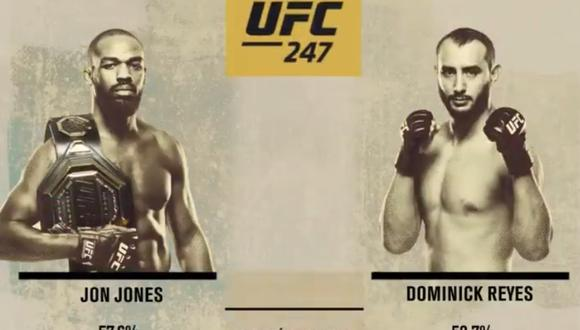 UFC 247 | [EN VIVO] ONLINE vía Fox Action: Jones vs. Reyes desde Houston