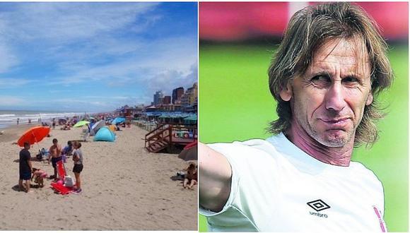 Ricardo Gareca disfruta del verano en conocido balneario