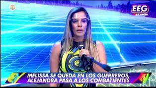 Alejandra Baigorria llora sin consuelo por pasar al equipo de 'Los combatientes'