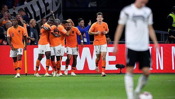 Holanda goleó a Alemania por la UEFA Nations League