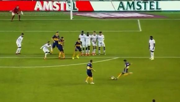 Liga de Quito vs. Boca Juniors | Bebelo Reynoso anota un espectacular golazo de tiro libre | VIDEO