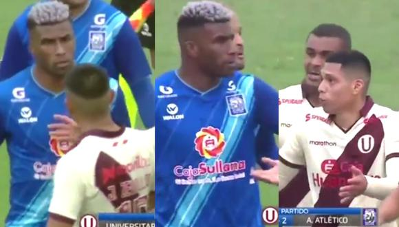 El final del partido entre Universitario y Alianza Atlético fue tenso ya que los jugadores de la U y Carlos Ascues tuvieron un enfrentamiento verbal.