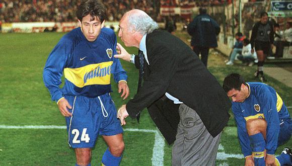 Pereda fue parte del plantel de Boca Juniors dirigido por Bianchi que ganó todo.