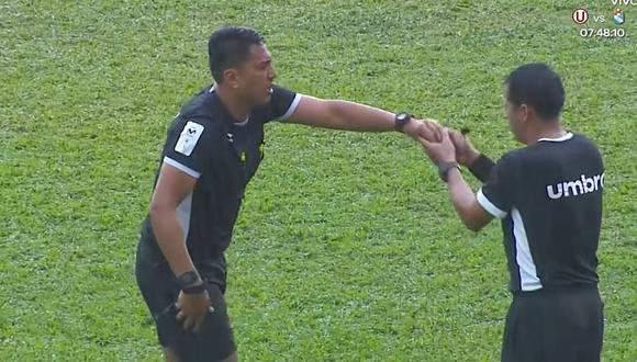 Liga 1   Unión Comercio vs. Alianza Universidad: Lluvia torrencial malogró los audífonos del árbitro [VIDEO]