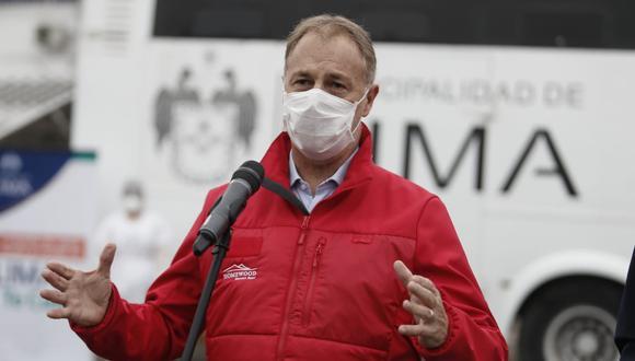 El alcalde de Lima, Jorge Muñoz, se reunió con funcionarios del MEF para analizar el caso del Metropolitano. (GEC)
