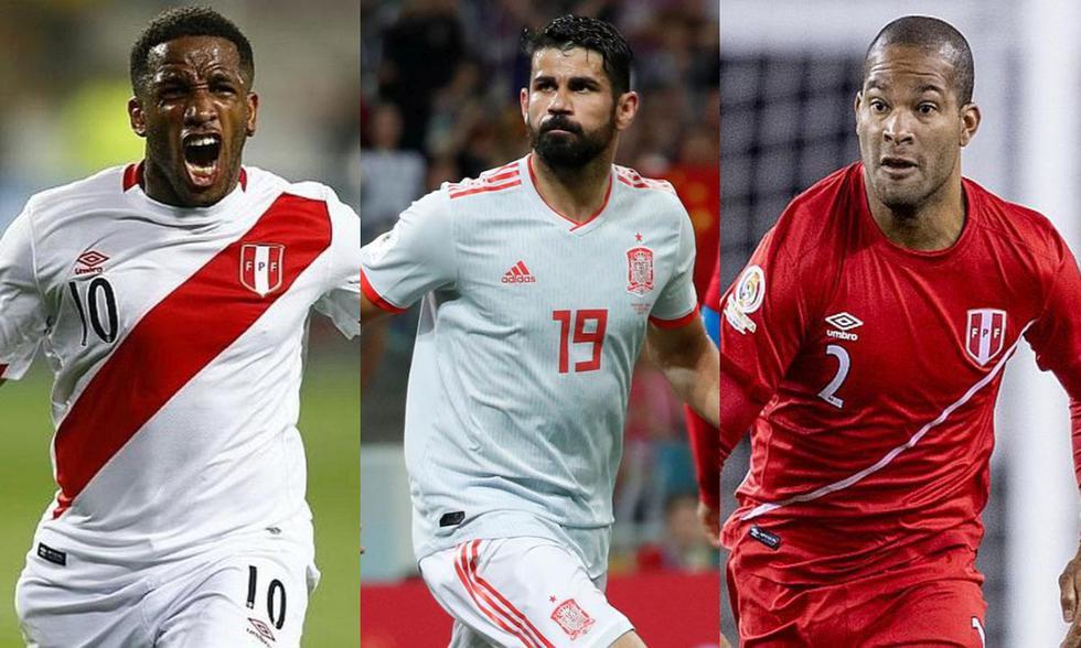 Jefferson Farfán, Diego Costa y Alberto Rodríguez, futbolistas que estuvieron en el Mundial de Rusia 2018, actualmente están sin equipo. (Fotos: EFE/AFP)