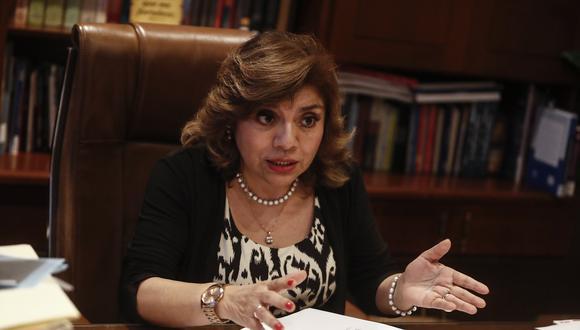 Zoraida Ávalos le respondió de manera irónica al congresista César Gonzales Tuanama. (Foto: GEC)