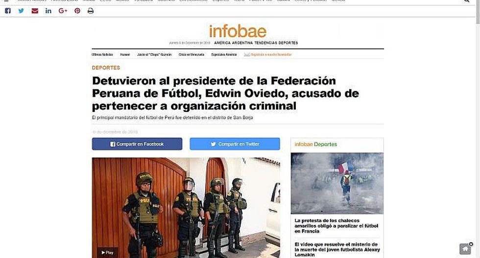 Así informó la prensa internacional detención de Edwin Oviedo