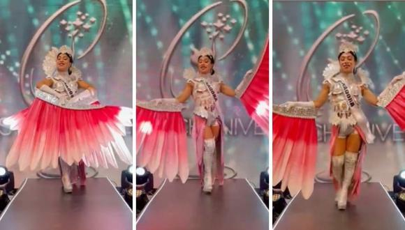 """Dayanita se mostró muy contenta por la final que tuvo el """"Miss Chuniverso"""", sketch donde imitaron la presentación de Janick Maceta en el Miss Universo. (Foto: Instagram @dayanita_show / @janickmaceta)."""