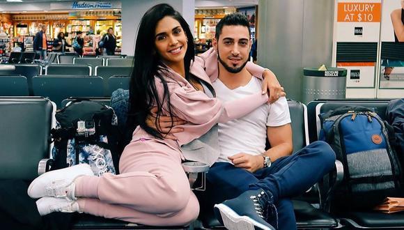 Vania Bludau y Frank Dello Russo, cuando eran pareja, durante sus románticas vacaciones por Europa. (Fotos: @vaniabludau)