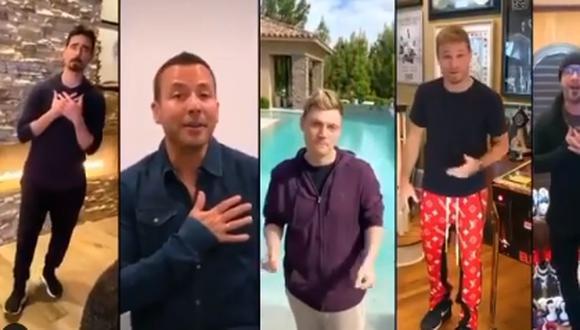Los Backstreet Boys se reúnen de forma virtual para concierto (Foto: Instagram)