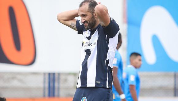 Hernán Barcos hizo un mea culpa y aseguró que jugó uno de sus peores partidos con la camiseta de Alianza Lima. (Foto: Liga 1)